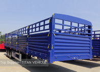 China 3 Axles 60 ton 40ft Flatbed Semi Trailer Equipment with Side Walls factory