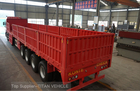 China 40T 60 ton Dropside Flatbed Trailer with Side Wall , 3 Axles Trailer factory