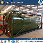 China 24000 Liters cooking oil tank container , carbon steel semi trailer tanker factory