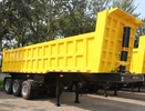 TITAN 3 Axle 35CBM ET U shape dump trailer / heavy duty utility trailer