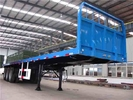 14T 3 Axle Flatbed Semi Trailer / cargo container trailer with side wall supplier