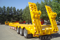 3 axles low loader semi trailer with fuwa axle  carry construction equipment for sale supplier