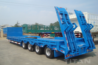 4 Axles Low bed Trailer with WABCO breaking system for sale supplier