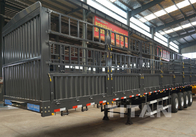 China 4 axles fence semi trailer 50 / 60 ton  Drawbar Trailer for sale factory