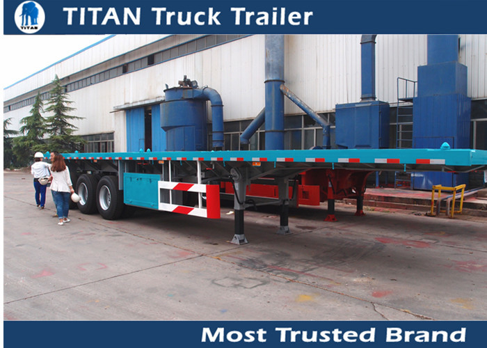 Multi axle 40ft flatbed iso container trailer / gooseneck