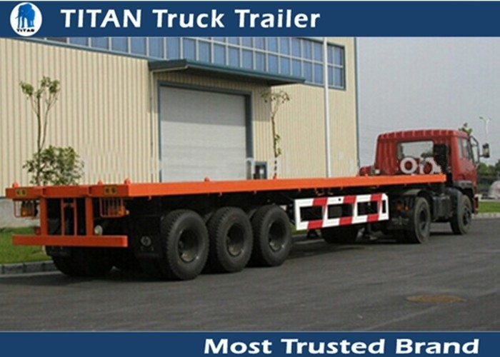 Container Loader Tandem Axle Flatbed Trailer Flatbed Tractor Trailer