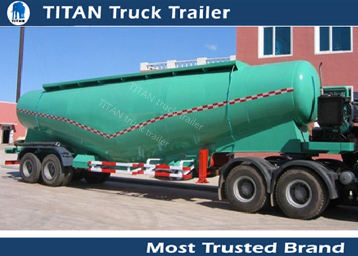 V / W type Small capacity powder tanker cement trailer with