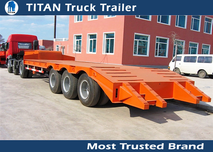 11,500*3,000*1,200 mm 4 x 15 Tons Lowboy trailer for heavy
