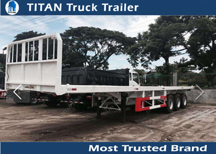 Tri - axle 40ft high bed platform flatbed utility trailers