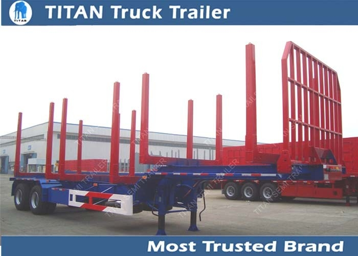 Two axles long log load gooseneck logging trailer 12,000*2,500*1,560 mm supplier