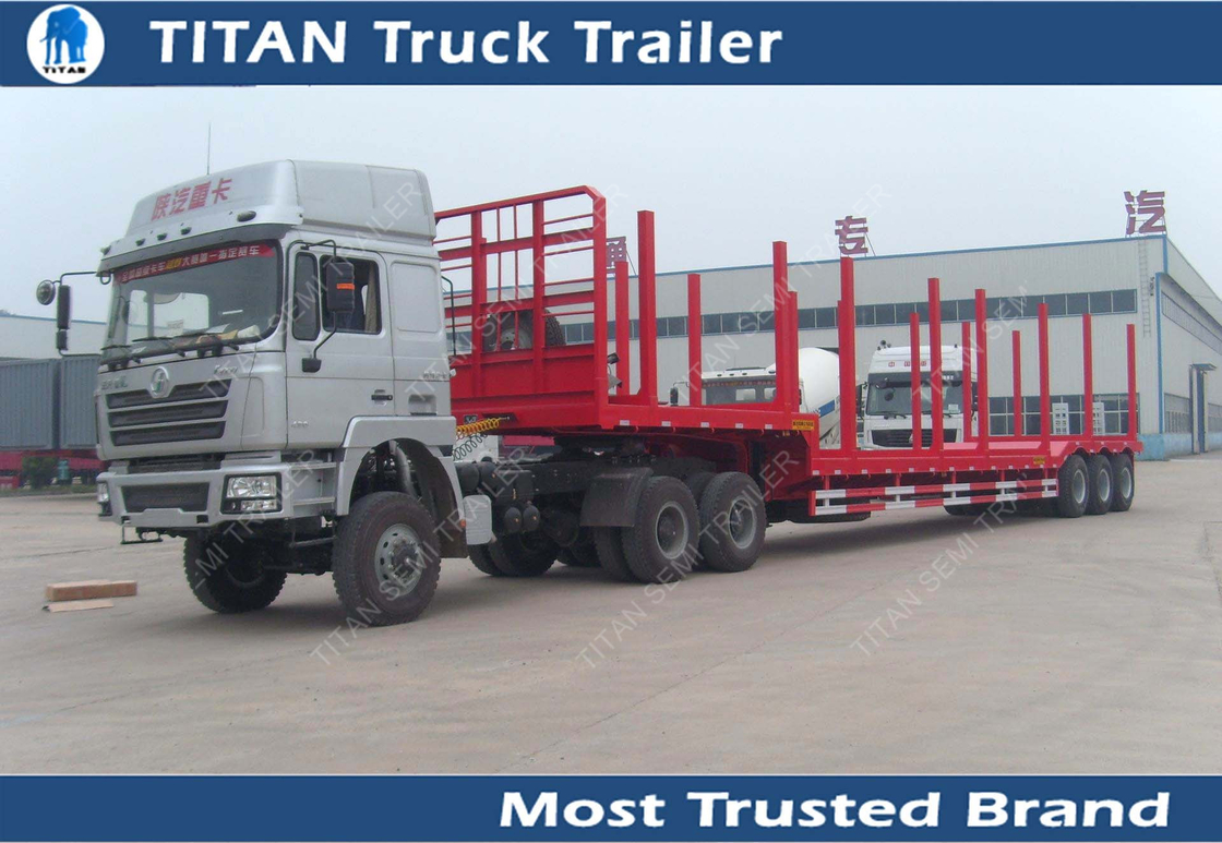 With Drop Axle Semi : Axles drop deck forestry semi logging trailer