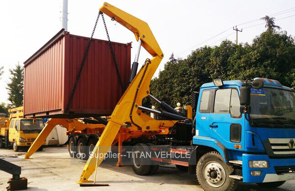 TITAN 37 ton 20ft Sidelifter Container Side Loader Trailer for UAE supplier