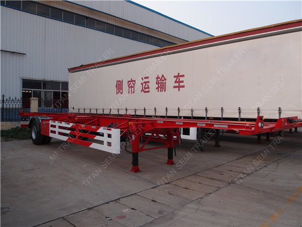 Single Axle Container Trailer Chassis With A 40 Tons Load