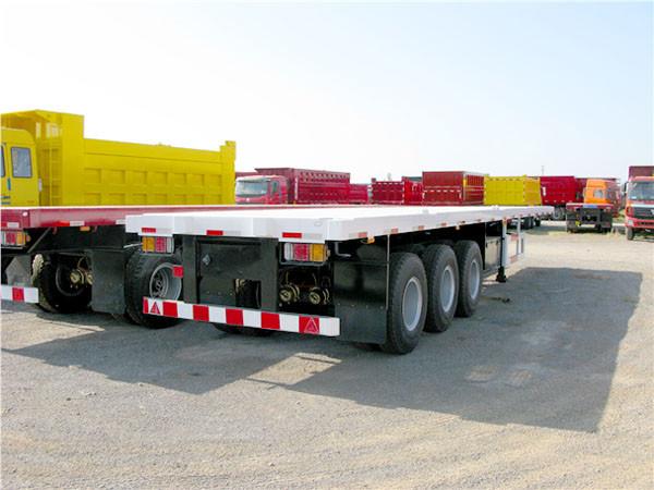 Tri Axle Flatbed : Tri axle ft container transport flatbed semi trailers