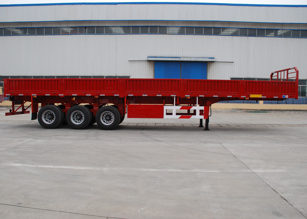 Flatbed Semi Trailer 500 Mm- 800mm Side Wall Height