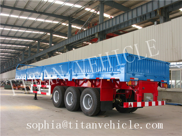 With Drop Axle Semi : Titan drop side axle tons semitrailer cargo flatbed