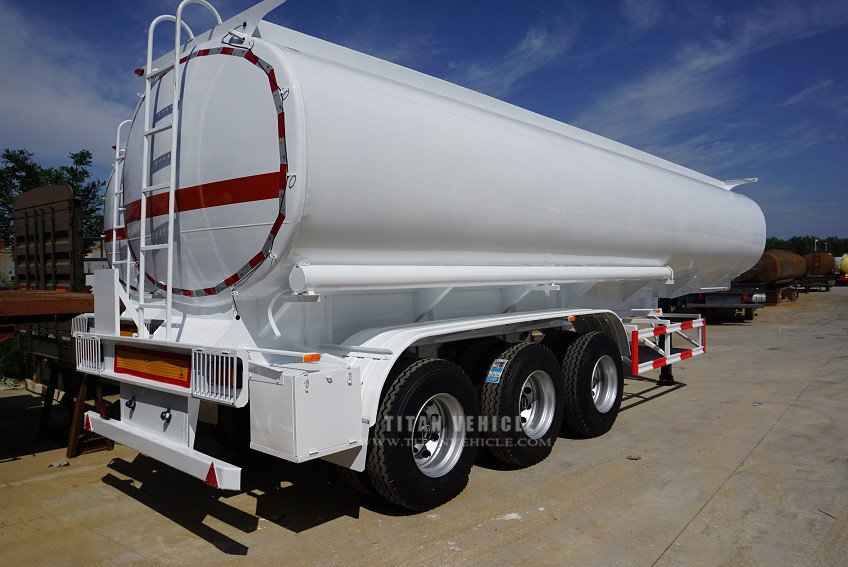 fuel tank truck trailer, crude oil tanker trailer with 3 axle for sale