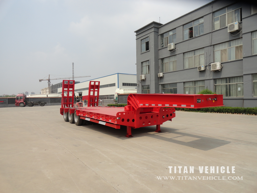 high bed semi-trailer truck trailer with 40ft low bed trailer for sale supplier