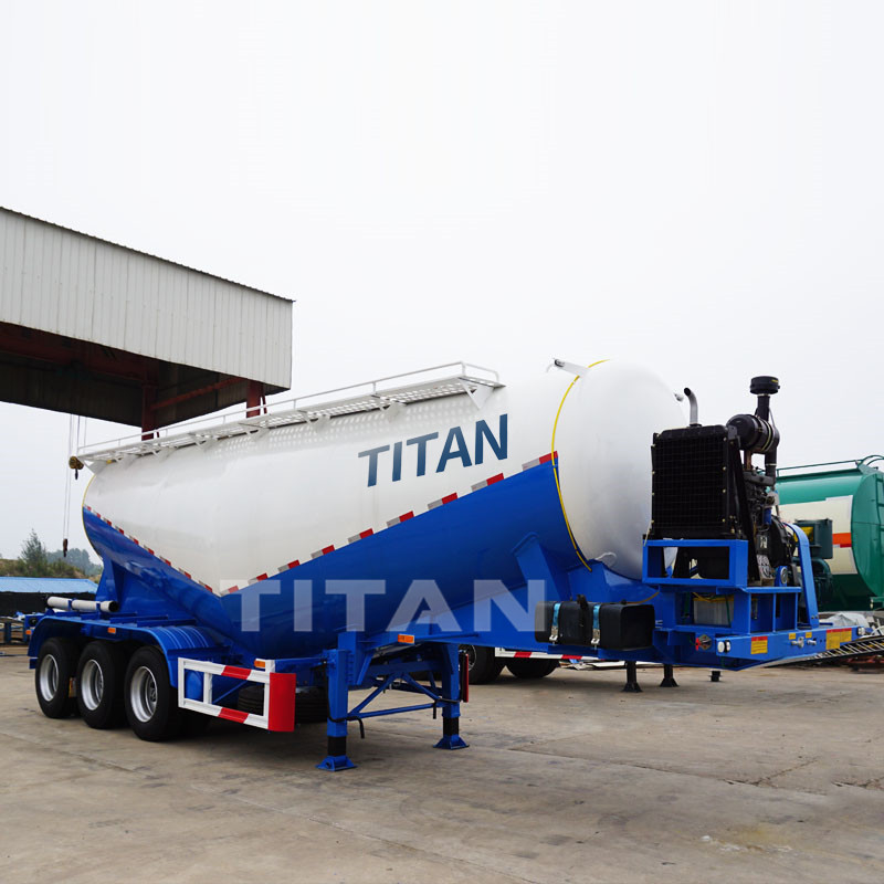 bulk dry cement trailers TITAN high quality cement tank