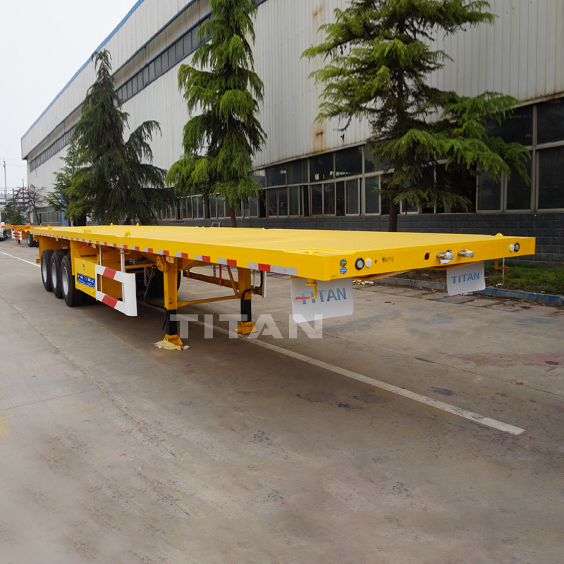 Flatbed For Sale >> Titan Flatbed Trailer Price 40ft Flatbed Trailer Container