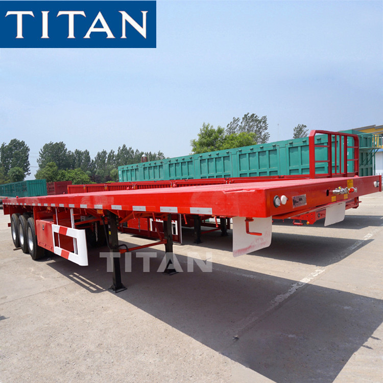 TITAN 3 axle 40/50/60 tons container flatbed trailer for sale supplier