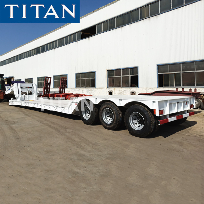 TITAN Hydraulic detachable front loading gooseneck lowboy trailer supplier