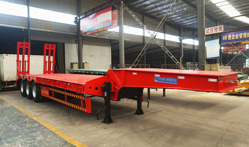 3 Axles Low bed Trailer with low bed trailer specification for sale supplier