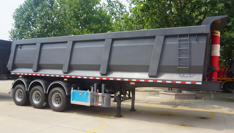 Light weight U shape 24cbm dump trailer by 40HQ container shipping supplier