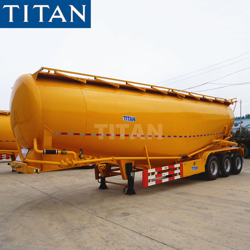 TITAN 3 axle 30/35cbm V type silobas bulk cement truck dimensions supplier