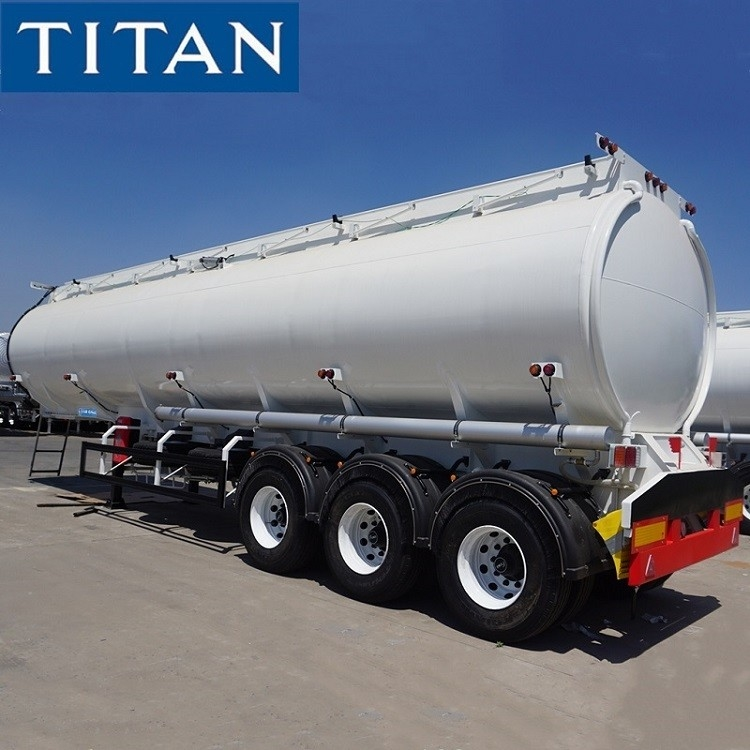 3 Axle Stainless Steel 41000 Liters Capacity Fuel Tank Trailer