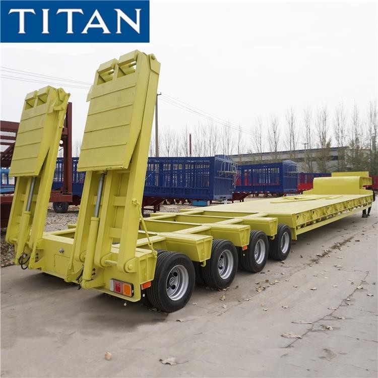 Heavy Haul 4 lines 8 axle Low Loader Trailer for Sale in Nigeria supplier