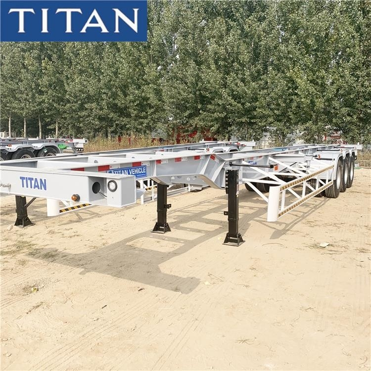 3 Axles 30/40 Tons Container Trailer Chassis for Sale Near Me supplier