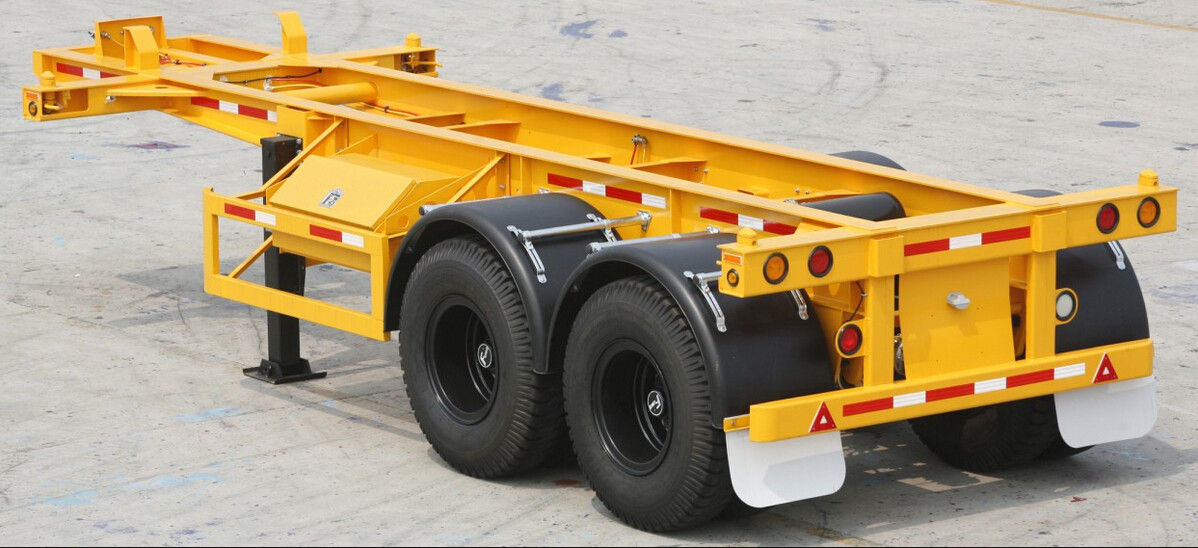 2axle 20ft and 40ft Container Skeletal Chassis Trailer