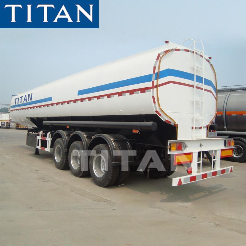 41000 Liters capacity fuel tank semi trailer , oil tank