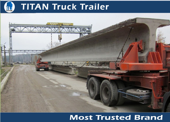 Hydraulic suspension Self - steering turntable heavy haulage trailers For Beams