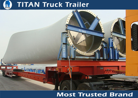 Extendable Blade Hauler Wind Blade Trailer 43 Meters / Custom flatbed trailers