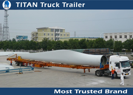 Durable Extendable Flatbed Trailer Blade Hauler Wind Power Transportation