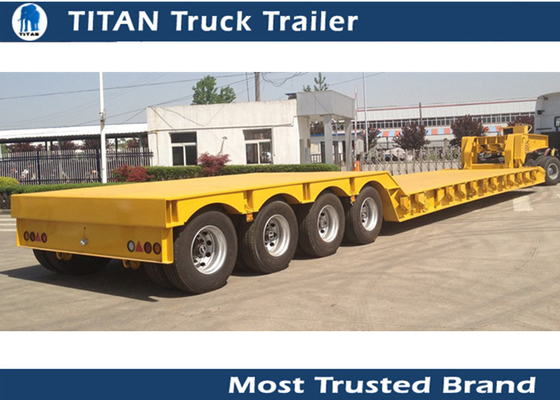 Hydraulic Gooseneck detachable Lowboy Trailer for excavator , bulldozer , crushing machine