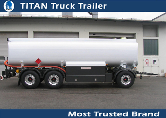 3 Axle 24cbm fuel tanker trailer for petrol , palm oil transportation 15000 - 30000 liters