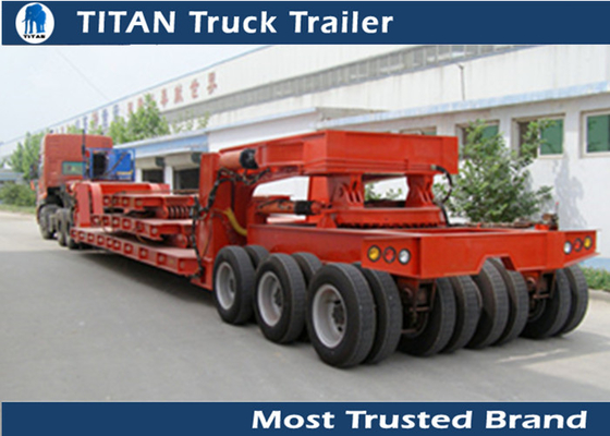 2 - 6 Axles Heavy Haul Trailers , 200 ton Low Loader Trailer for Heavy duty Transports