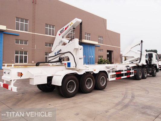 China 37 ton 40ft  Side Loader Trailer , Self Loading Container Trailer factory
