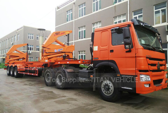 China Overseas sevices availabe 40 ton Side Loading Trailer Container Side Lifter Trailer factory