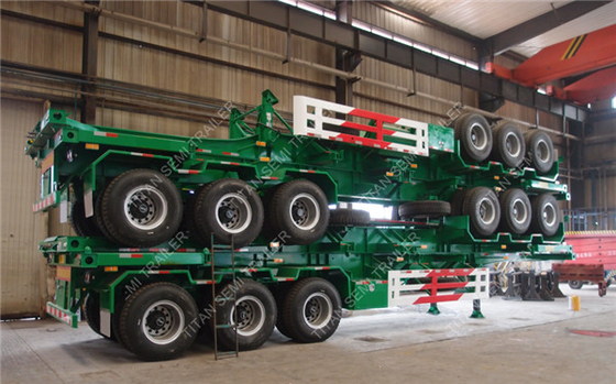 3 Axles 40ft Skeletal Semi Trailer With 12R22.5 Tubeless Tires