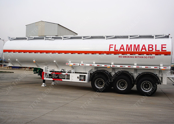 3 axles 42000 liters pneumatic tank trailers 9 compartment European system