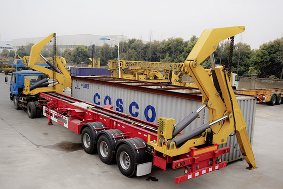 China Tri Axle Container Side Lift  Side Loader Trailer For Djibouti Market factory