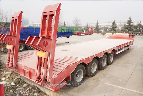 China Titan 100 ton 120 ton low bed trailer lowbed semi trailer for sale factory