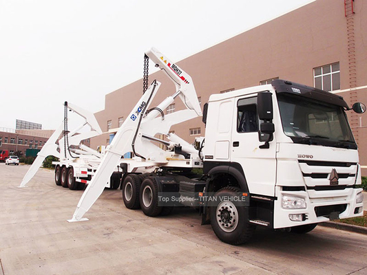 China TITAN 40 Ton 40ft Side Loader Trailer Lifting And Transport Containers factory