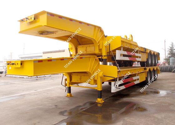 China Tri Axle Heavy Duty Low Loader Semi Trailer For Heavy Equipment Transport factory