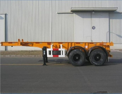 2 Axle 20ft / 40ft Container Transportation Skeleton Semi Trailer Big Capacity