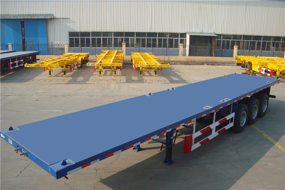 40 Foot 20 foot flatbed trailert / high bed semi truck trailer for container transporting